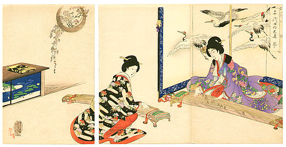 Ukiyo-e Chikanobu Koto