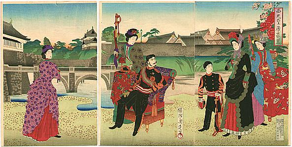 Ukiyo-e Chikanobu Meiji Emperor