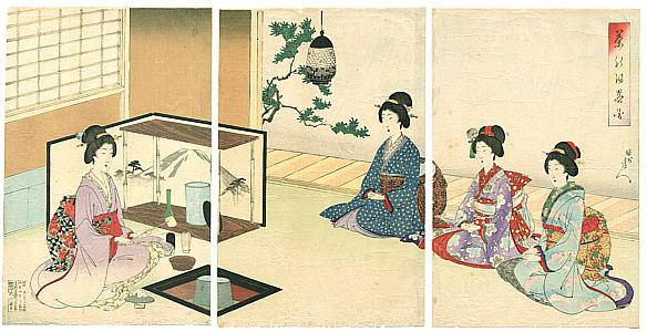 Ukiyo-e Chikanobu Teezeremonie