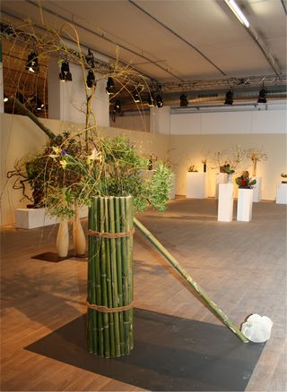 Giardina 2012 Ikebana International Ausstellung Gruppenarbeit Adachi Schule