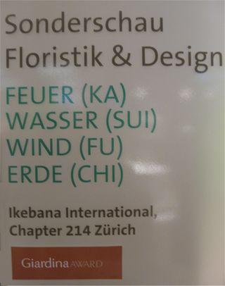 Giardina 2012 Ikebana International Ausstellung