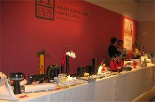 Giardina 2012 Ikebana International Ausstellung Zubehör Verkaufstisch