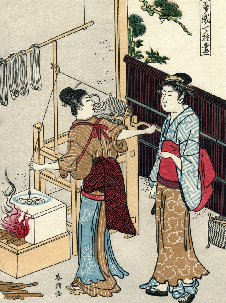 Katsukawa shuncho, seidenherstellung. roman & daniela jost möbel ...