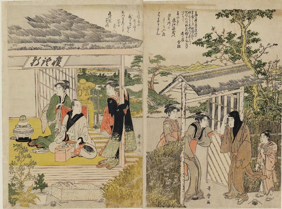 Kitagawa Utamaro I Steinlaterne