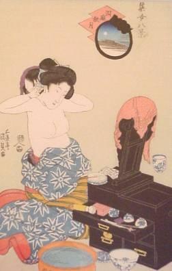 Ukiyo-e Holzschnittdruck Kunisada