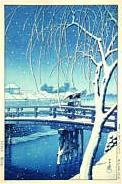Edogawa im Schnee, 1932