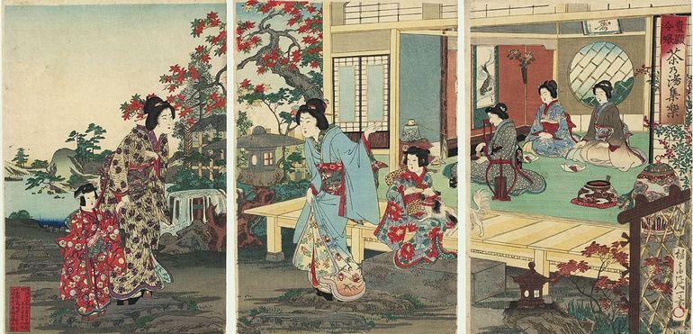 Chikanobu Yukimi Steinlaterne