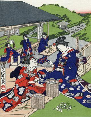 Fusatane Utagawa Sericulture1