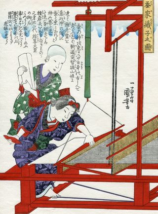 Kuniyoshi Utagawa Sericulture