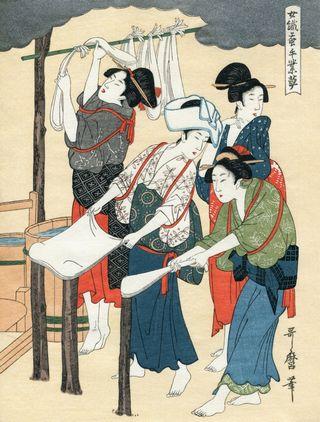 Utamaro Kitagawa Joshoku Kaiko Tewaza Kusa Bild10