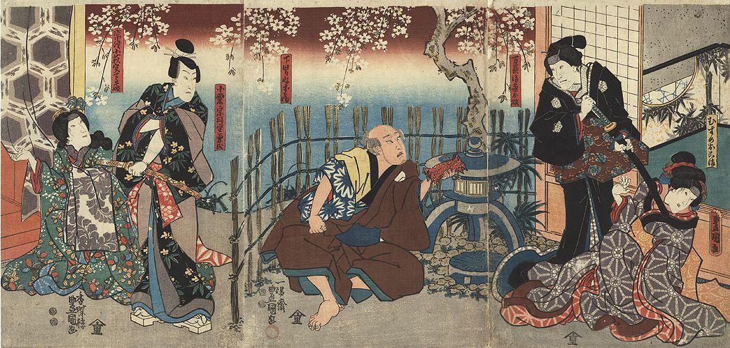 Toyokuni III Kunisada Steinlaterne