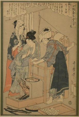 Utamaro Kitagawa Joshoku Kaiko Tewaza Kusa Bild09