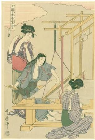 Utamaro Kitagawa Joshoku Kaiko Tewaza Kusa Bild12