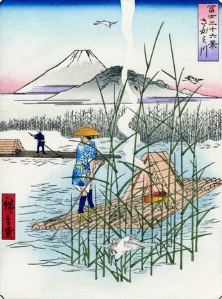 Hiroshige 36 views of Mount Fuji Sagami River