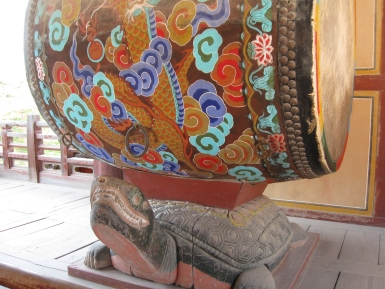Bulguksa Tempel Korea Trommel Schildkröte