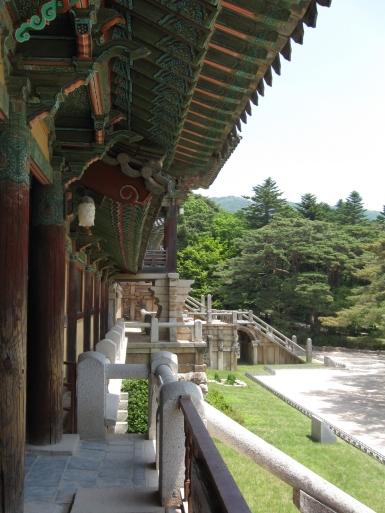 Korea Bulguksa Tempel Seitenansicht