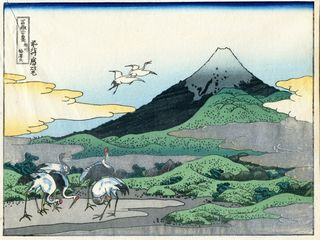 Hokusai 36 views of Mount Fuji Tsukuda