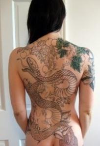 Tattoo japanische Schlange