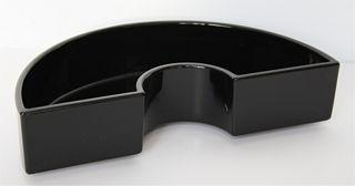 Kunststoffgefäss halbrund schwarz