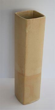 Hochvase quadratisch, sandfarben 14-404