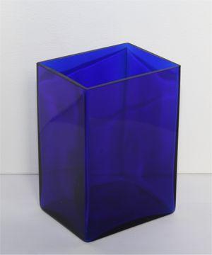 Ikebana Kastenvase Glas blau