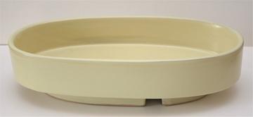Flachschale Keramik oval
