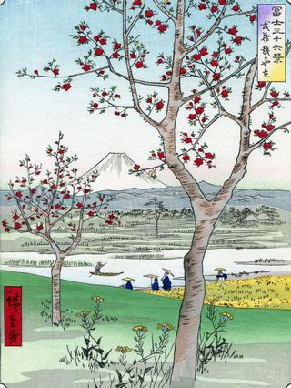 Hiroshige 36 views of Mount Fuji Koshigaya