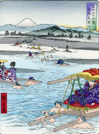 Hiroshige 36 views of Mount Fuji Oi River