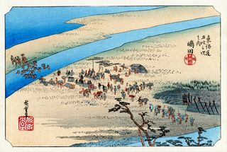 Hiroshige 53 Stations of Tokaido Nr 24 Shimada