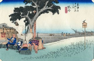 Hiroshige 53 Stations of Tokaido Nr 28 Fukuroi