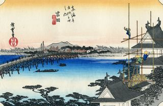 Hiroshige 53 Stations of Tokaido Nr 35 Yoshida